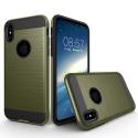TOUGHARMOR-IPXKAKI - Coque renforcée iPhone hybride antichoc coloris noir et kaki