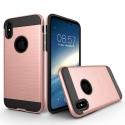 TOUGHARMOR-IPXROSEGOLD - Coque renforcée iPhone hybride antichoc coloris noir et rose gold