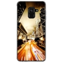 TPU0A8PLUS18NIGHTSTREET - Coque souple pour Samsung Galaxy A8-Plus 2018 avec impression Motifs Night Street