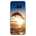 TPU0GALS8PLUSDAUPHIN - Coque souple pour Samsung Galaxy S8 Plus avec impression Motifs dauphin
