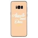 TPU0GALS8PLUSDIEUBEIGE - Coque souple pour Samsung Galaxy S8 Plus avec impression Motifs Appelle moi Dieu beige