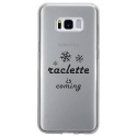 TPU0GALS8RACLETTECOMING - Coque souple pour Samsung Galaxy S8 avec impression Motifs raclette is coming