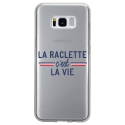 TPU0GALS8RACLETTEVIE - Coque souple pour Samsung Galaxy S8 avec impression Motifs la raclette c'est la vie