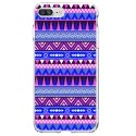 TPU0IP7PLUSAZTEQUEBLEUVIO - Coque souple pour Apple iPhone 7 Plus avec impression Motifs aztèque bleu et violet