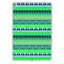 TPU0IPADAIR2AZTEQUEBLEUVER - Coque souple pour Apple iPad Air 2 avec impression Motifs aztèque bleu et vert
