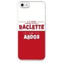 TPU0IPHONE5RACLETTABDOS - Coque souple pour iPhone 5s / SE avec impression Motifs raclette ça fait abdos