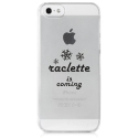 TPU0IPHONE5RACLETTECOMING - Coque souple pour iPhone 5s / SE avec impression Motifs raclette is coming