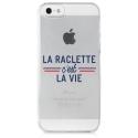 TPU0IPHONE5RACLETTEVIE - Coque souple pour iPhone 5s / SE avec impression Motifs la raclette c'est la vie