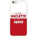 TPU0IPHONE6SRACLETTABDOS - Coque souple pour iPhone 6/6S avec impression Motifs raclette ça fait abdos
