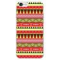 TPU0IPHONE7AZTEQUEJAUROU - Coque souple pour Apple iPhone 7 avec impression Motifs aztèque jaune et rouge