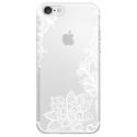 TPU0IPHONE7LACEBLANC - Coque souple pour Apple iPhone 7 avec impression Motifs Lace blanc