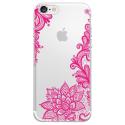 TPU0IPHONE7LACEFUSHIA - Coque souple pour Apple iPhone 7 avec impression Motifs Lace fushia