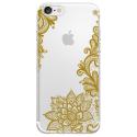 TPU0IPHONE7LACEGOLD - Coque souple pour Apple iPhone 7 avec impression Motifs Lace gold
