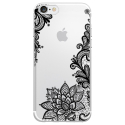 TPU0IPHONE7LACENOIR - Coque souple pour Apple iPhone 7 avec impression Motifs Lace noir
