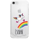 TPU0IPHONE7LICORNE - Coque souple pour Apple iPhone 7 avec impression Motifs Je suis une licorne