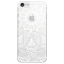 TPU0IPHONE7MANDALABLANC - Coque souple pour Apple iPhone 7 avec impression Motifs Mandala blanc