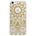TPU0IPHONE7MANDALAGOLD - Coque souple pour Apple iPhone 7 avec impression Motifs Mandala gold