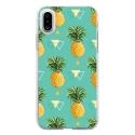 TPU0IPHONEXANANAS - Coque souple pour Apple iPhone X avec impression Motifs ananas