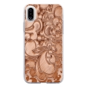 TPU0IPHONEXARABESQUEBRONZE - Coque souple pour Apple iPhone X avec impression Motifs arabesque bronze