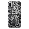 TPU0IPHONEXARABESQUENOIR - Coque souple pour Apple iPhone X avec impression Motifs arabesque noir