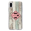 TPU0IPHONEXBABYGIRL - Coque souple pour Apple iPhone X avec impression Motifs Baby Girl
