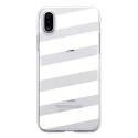 TPU0IPHONEXBANDESBLANCHES - Coque souple pour Apple iPhone X avec impression Motifs bandes blanches