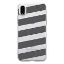 TPU0IPHONEXBANDESGRISES - Coque souple pour Apple iPhone X avec impression Motifs bandes grises