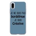 TPU0IPHONEXBORDELIQUEBLEU - Coque souple pour Apple iPhone X avec impression Motifs Je ne suis pas bordélique bleu