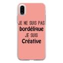 TPU0IPHONEXBORDELIQUEROSE - Coque souple pour Apple iPhone X avec impression Motifs Je ne suis pas bordélique rose