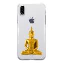 TPU0IPHONEXBOUDDHAOR - Coque souple pour Apple iPhone X avec impression Motifs bouddha or