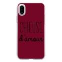 TPU0IPHONEXCHIEUSEBORDEAU - Coque souple pour Apple iPhone X avec impression Motifs Chieuse d'Amour bordeau