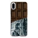 TPU0IPHONEXCHOCOLAT - Coque souple pour Apple iPhone X avec impression Motifs tablette de chocolat