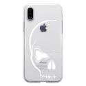 TPU0IPHONEXCRANE - Coque souple pour Apple iPhone X avec impression Motifs crâne blanc