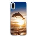 TPU0IPHONEXDAUPHIN - Coque souple pour Apple iPhone X avec impression Motifs dauphin