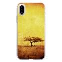 TPU0IPHONEXDESERT - Coque souple pour Apple iPhone X avec impression Motifs paysage désertique