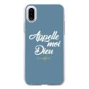 TPU0IPHONEXDIEUBLEU - Coque souple pour Apple iPhone X avec impression Motifs Appelle moi Dieu bleu