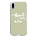 TPU0IPHONEXDIEUVERT - Coque souple pour Apple iPhone X avec impression Motifs Appelle moi Dieu vert