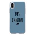 TPU0IPHONEXDISCAMIONBLEU - Coque souple pour Apple iPhone X avec impression Motifs Dis Camion bleu
