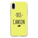 TPU0IPHONEXDISCAMIONJAUNE - Coque souple pour Apple iPhone X avec impression Motifs Dis Camion jaune