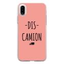 TPU0IPHONEXDISCAMIONROSE - Coque souple pour Apple iPhone X avec impression Motifs Dis Camion rose