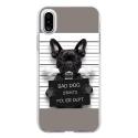 TPU0IPHONEXDOGPRISONOS - Coque souple pour Apple iPhone X avec impression Motifs bulldog prisonnier os