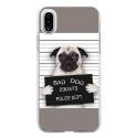 TPU0IPHONEXDOGPRISONTRISTE - Coque souple pour Apple iPhone X avec impression Motifs bulldog prisonnier