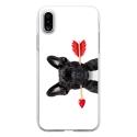 TPU0IPHONEXDOGVALENTIN - Coque souple pour Apple iPhone X avec impression Motifs bulldog valentin