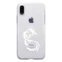 TPU0IPHONEXDRAGONTRIBAL - Coque souple pour Apple iPhone X avec impression Motifs dragon tribal
