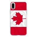 TPU0IPHONEXDRAPCANADA - Coque souple pour Apple iPhone X avec impression Motifs drapeau du Canada