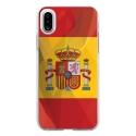 TPU0IPHONEXDRAPESPAGNE - Coque souple pour Apple iPhone X avec impression Motifs drapeau de l'Espagne