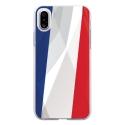TPU0IPHONEXDRAPFRANCE - Coque souple pour Apple iPhone X avec impression Motifs drapeau de la France