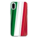 TPU0IPHONEXDRAPITALIE - Coque souple pour Apple iPhone X avec impression Motifs drapeau de l'Italie