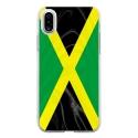 TPU0IPHONEXDRAPJAMAIQUE - Coque souple pour Apple iPhone X avec impression Motifs drapeau de la Jamaïque
