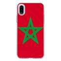 TPU0IPHONEXDRAPMAROC - Coque souple pour Apple iPhone X avec impression Motifs drapeau du Maroc